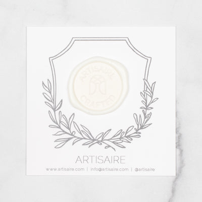 Soft White Sealing Wax Swatch