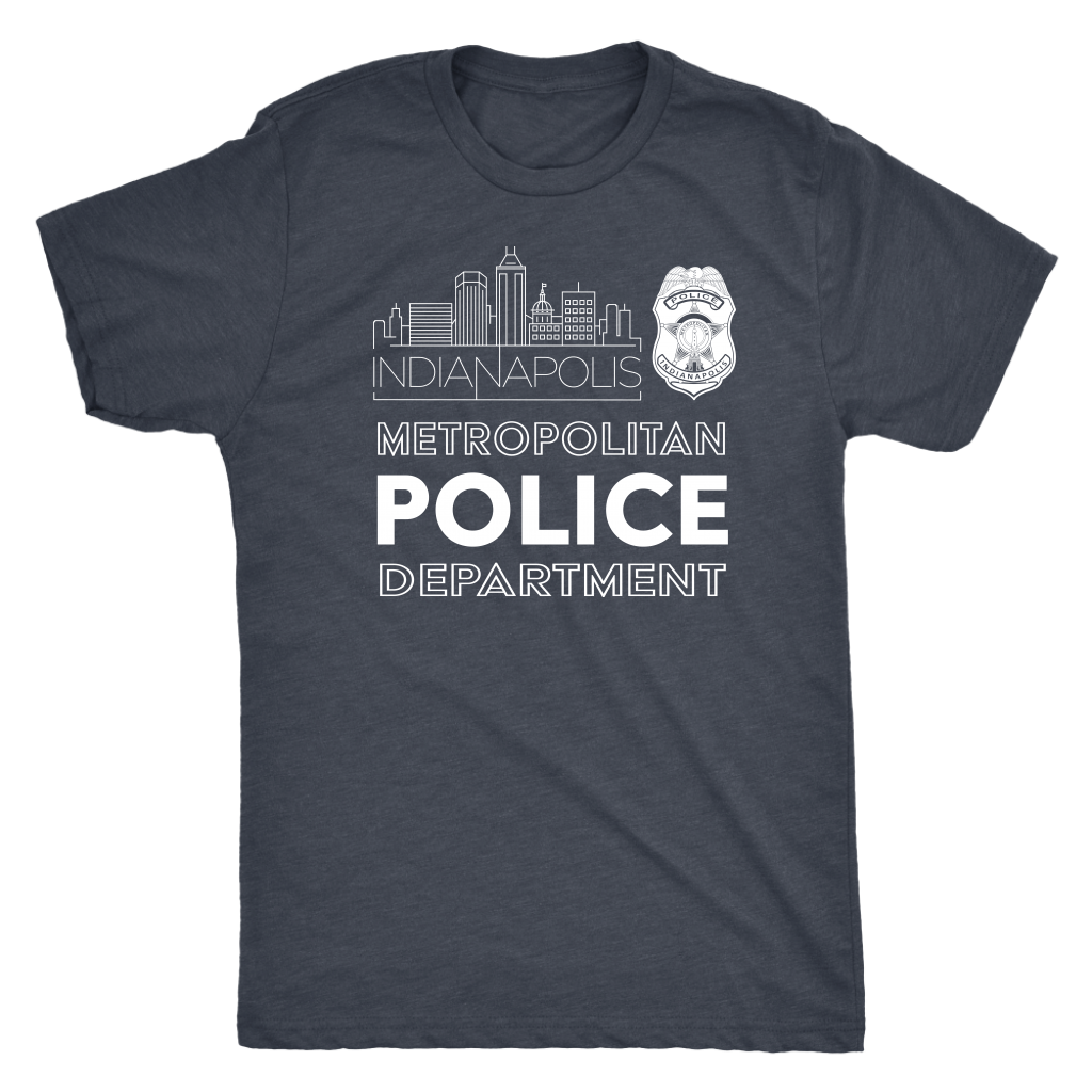 IMPD Badge Triblend Tee - Heather Navy
