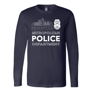 IMPD Badge Long Sleeve Tee - Navy