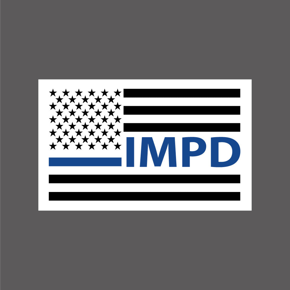 IMPD Thin Blue Line Decal