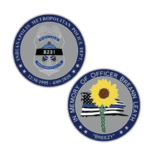 Officer Leath Memorial Challenge Coin