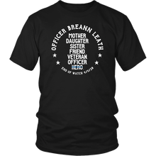 Load image into Gallery viewer, Officer Breann Leath Memorial T-shirt - Black