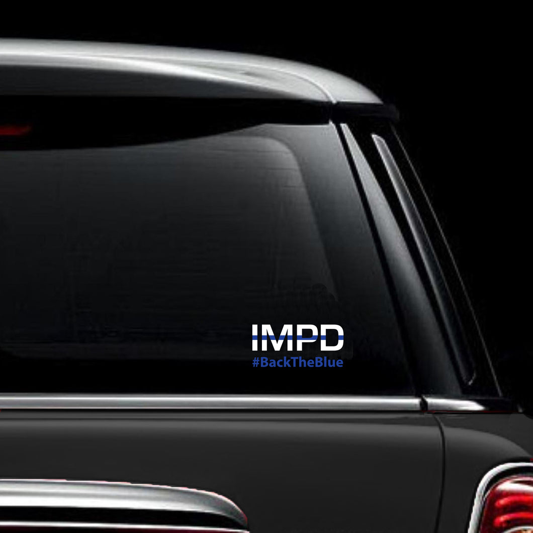 Vinyl Decal IMPD #BACKTHEBLUE