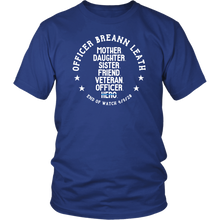 Load image into Gallery viewer, Officer Breann Leath Memorial T-shirt - Royal