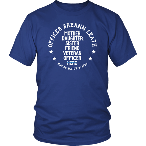 Officer Breann Leath Memorial T-shirt - Royal
