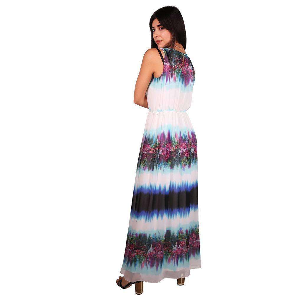 Colorful Print Maxi Dress Dress Zeina Makki