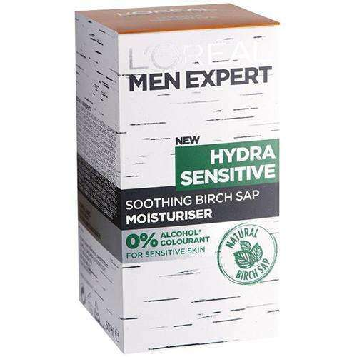 L'Oreal Men Expert- Hydra Sensitive Soothing Birch Sap- Moisturizer 50ml Day Cream L'Oreal Paris