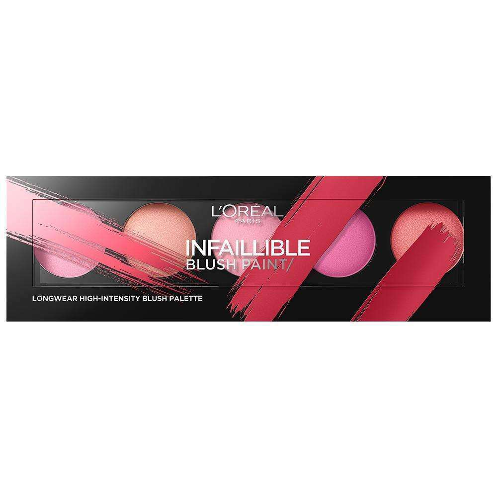 Infaillible Paint Long Lasting High Intensity Blush Palette 01 Pinks