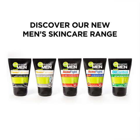 Garnier Men Power Fairness Charcoal Face Wash