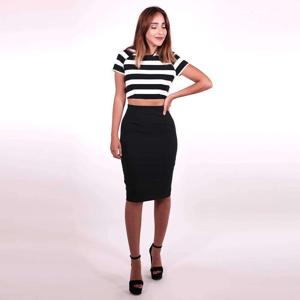 Striped Cut Out Dress Dress Thea Mechleb