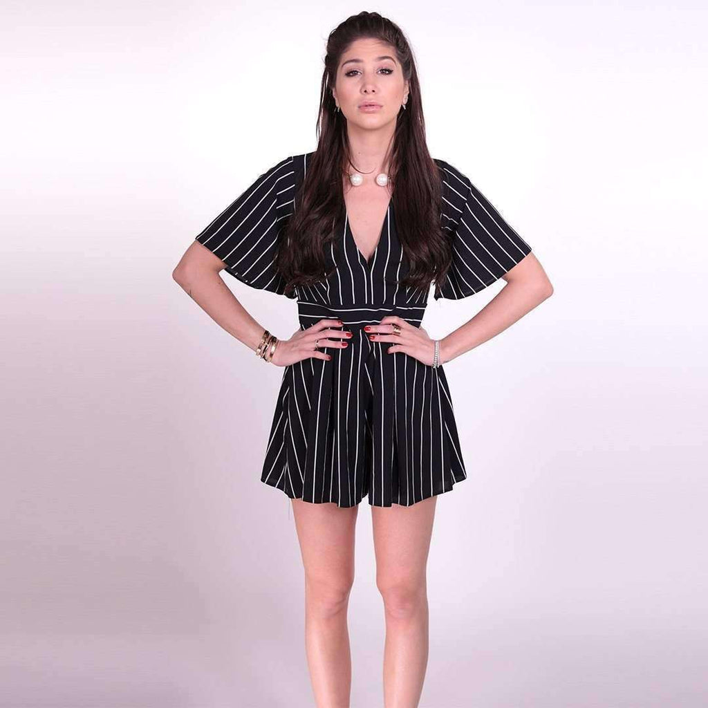 Striped Short Playsuit