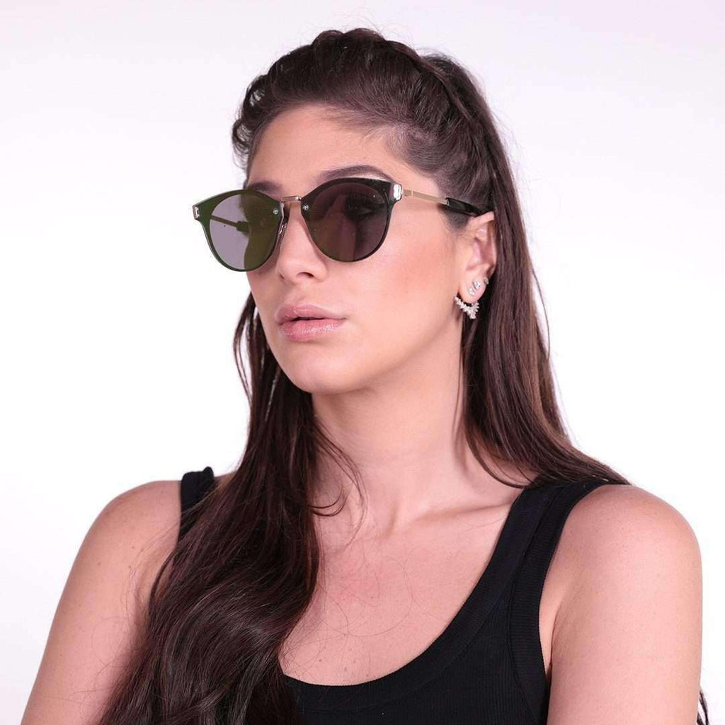 Green Flat Lense Sunglasses