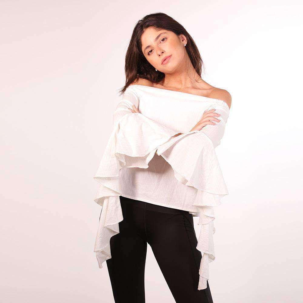White Off The Shoulder Top Top Tatiana Kaadou