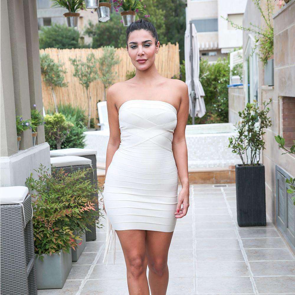 White Iconic Fitted Dress Dress Cheryl Azoury