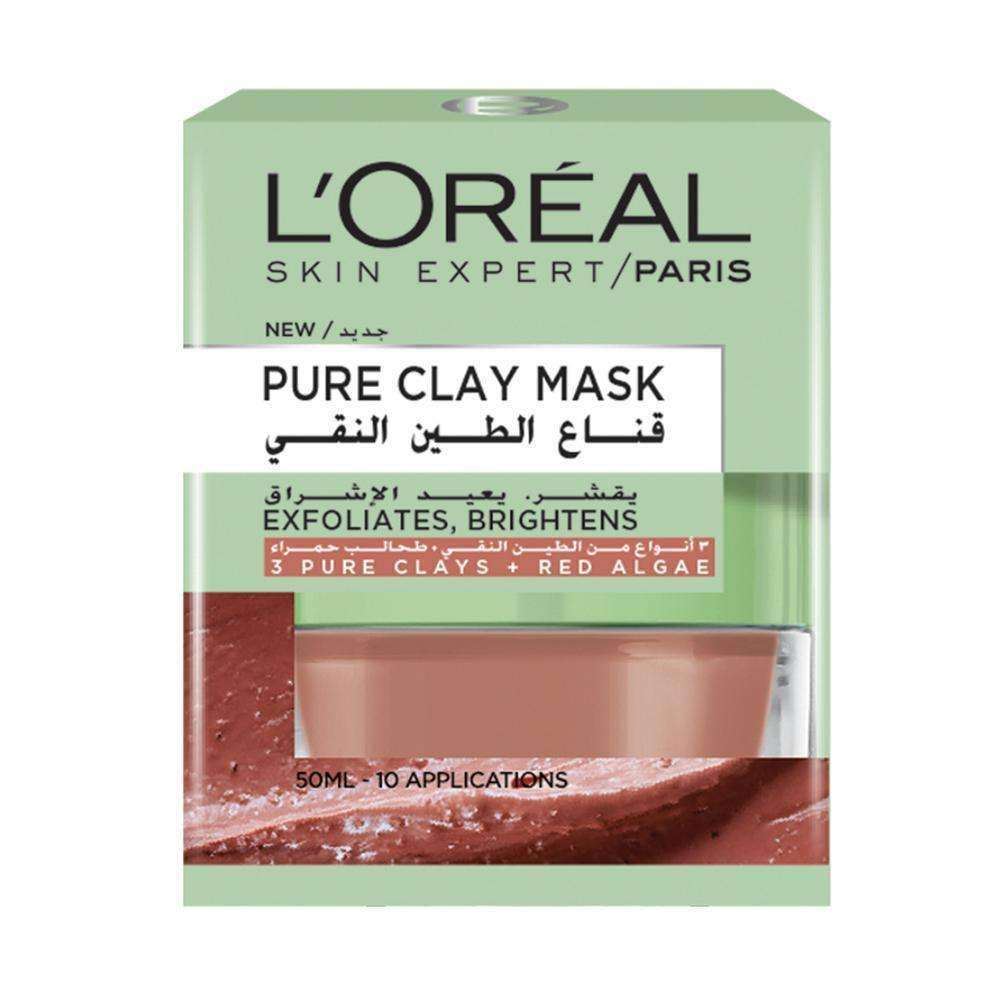 Pure Clay Mask Exfoliating and Smoothening Face Mask L'Oreal Paris