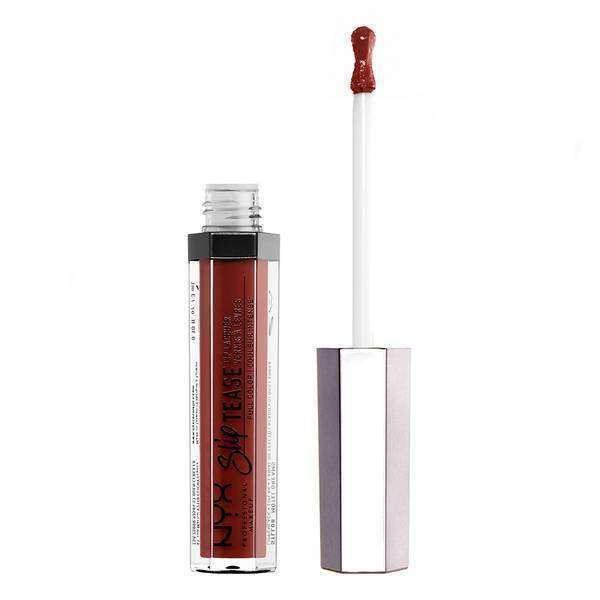 Slip Tease Full Color Lip Lacquer Lipstick NYX Professional Makeup Camel