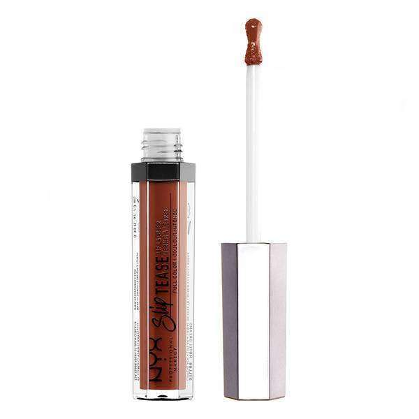 Slip Tease Full Color Lip Lacquer Lipstick NYX Professional Makeup Sandalwood