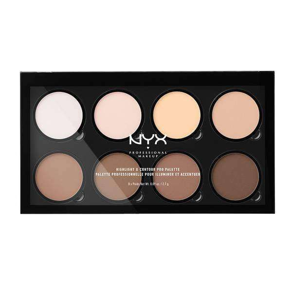 Highlight & Contour Pro Palette Highlighter Palette NYX Professional Makeup