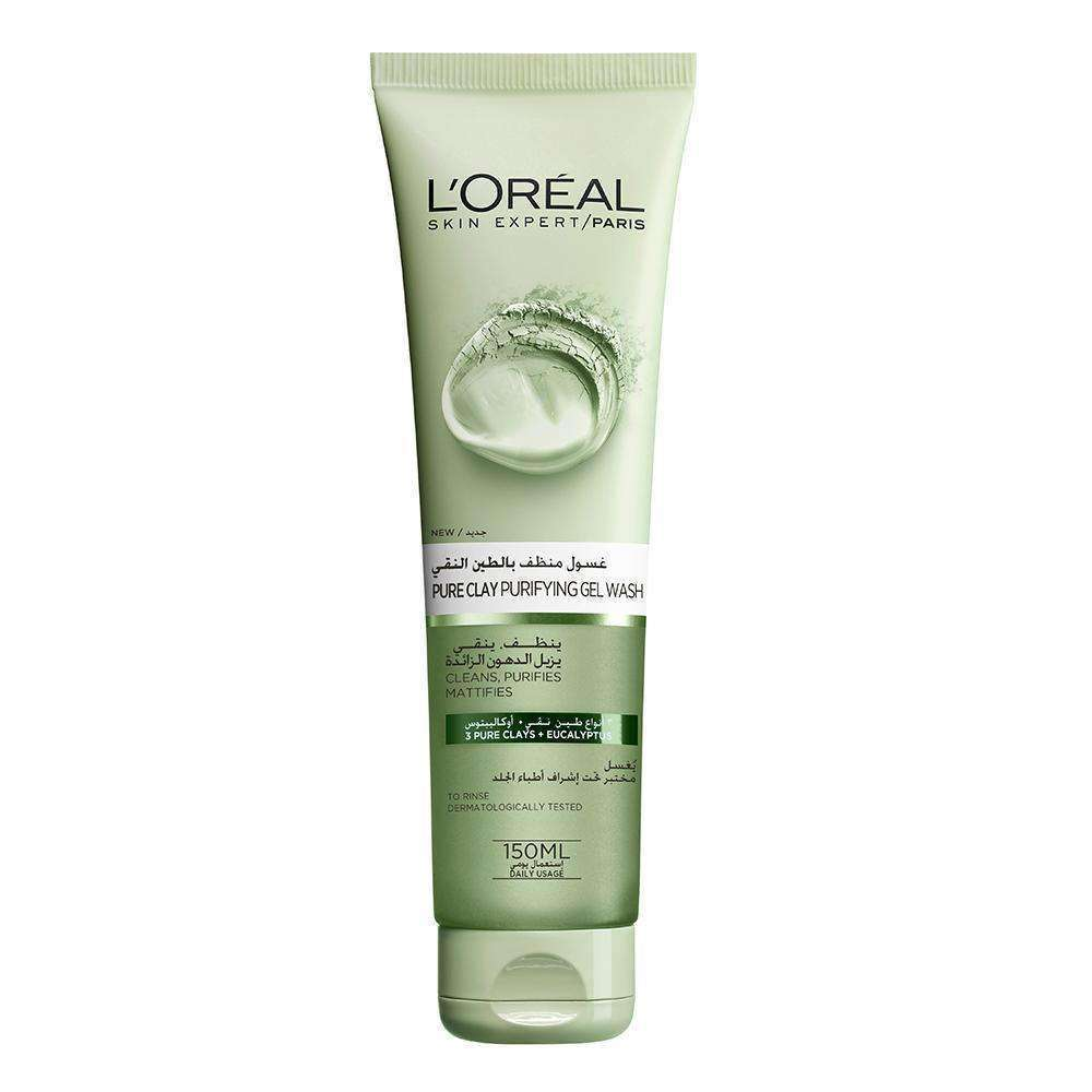 Pure Clay Gel Wash Purifying Face Wash L'Oreal Paris