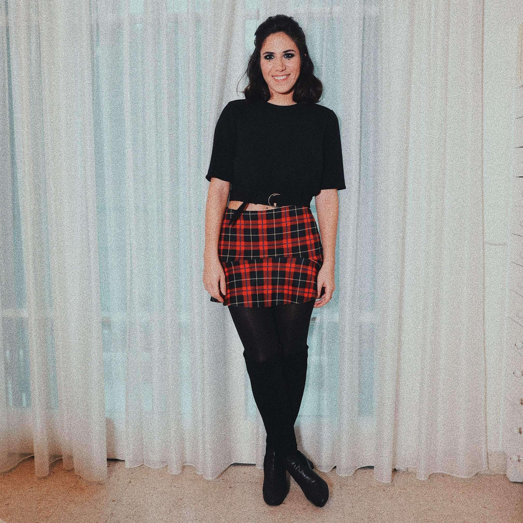 Plaid Mini Skirt Skirt Elsa Osta