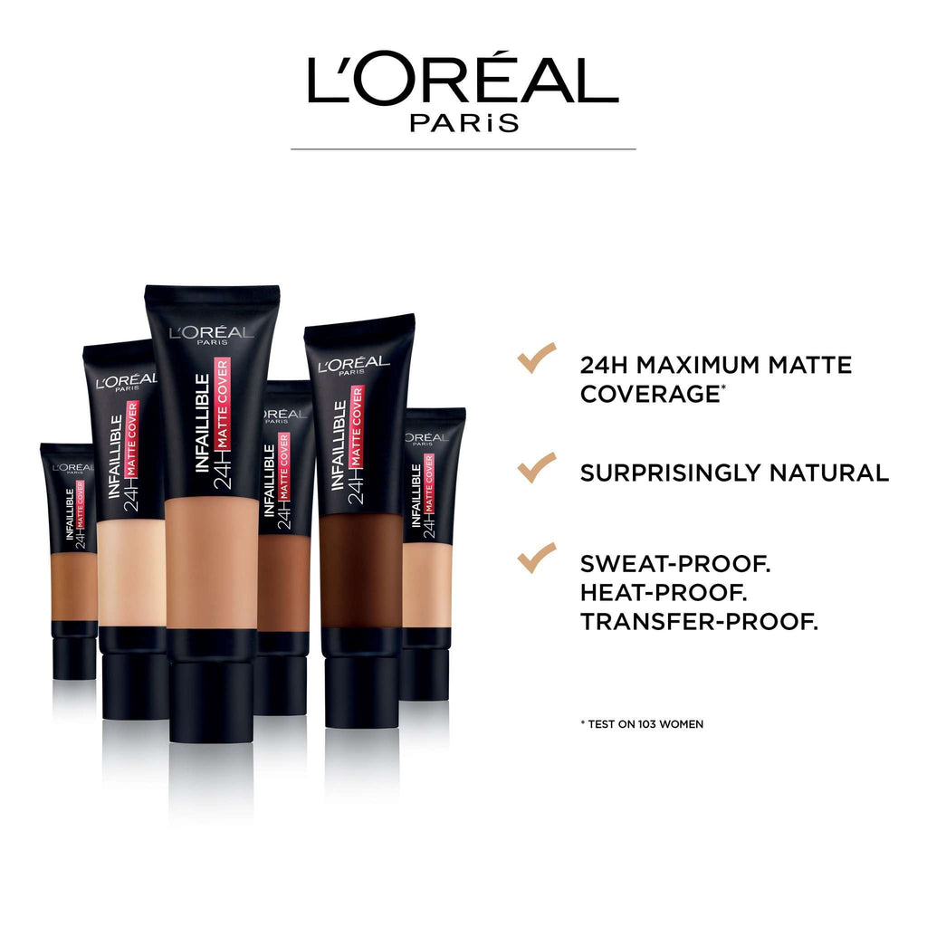 Infaillible 24H Matte Cover foundation- 30ml Foundation L'Oreal Paris