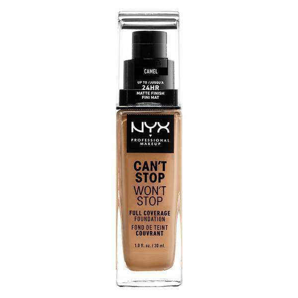 Can't Stop Won't Stop Full Coverage Foundation Foundation NYX Professional Makeup // Camel