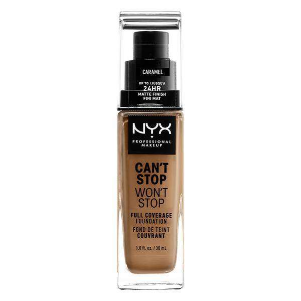 Can't Stop Won't Stop Full Coverage Foundation Foundation NYX Professional Makeup // Caramel