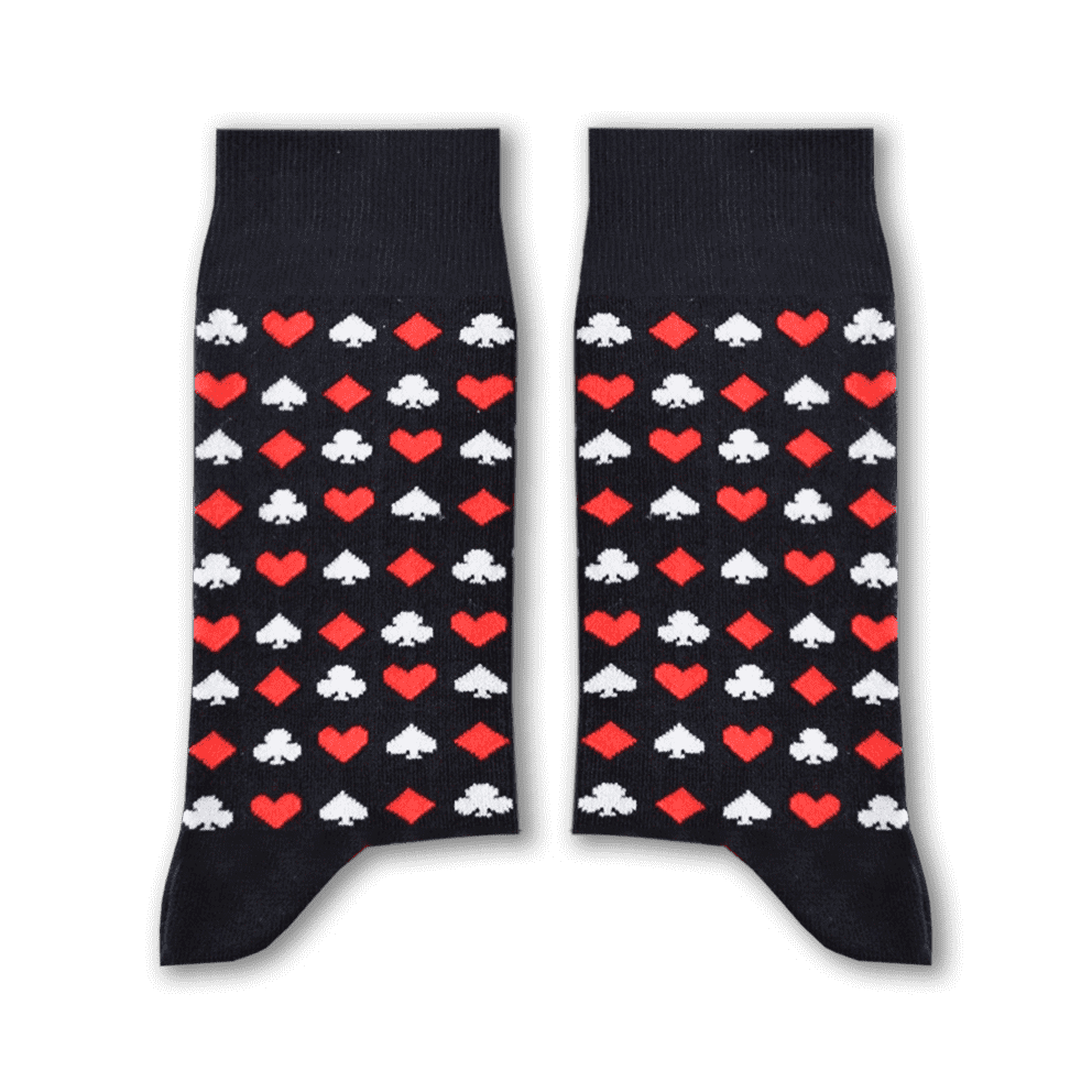 Cards Socks (Black) Long Socks Sikasok 41-46