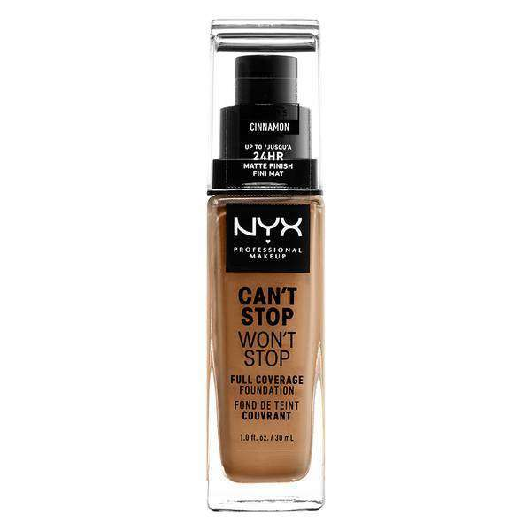 Can't Stop Won't Stop Full Coverage Foundation Foundation NYX Professional Makeup // Cinnamon
