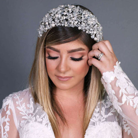 Couture Silver Headpiece