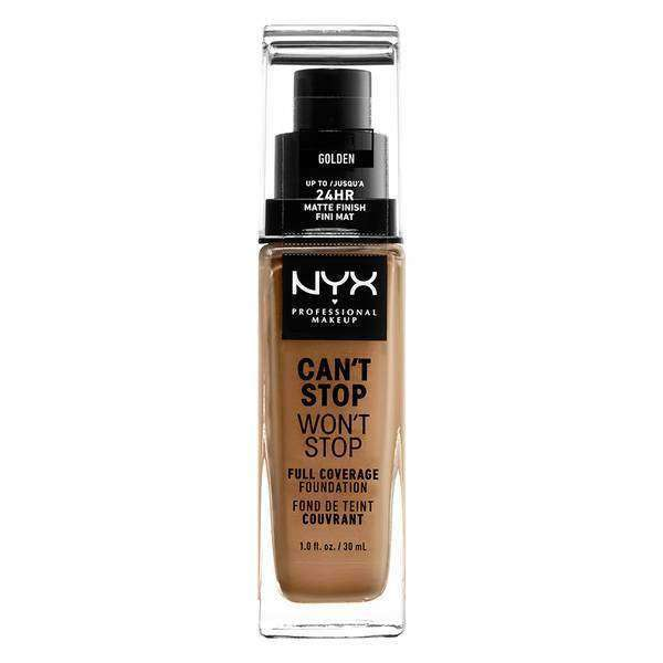 Can't Stop Won't Stop Full Coverage Foundation Foundation NYX Professional Makeup // Golden
