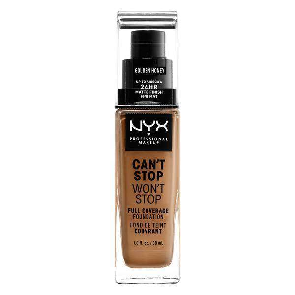 Can't Stop Won't Stop Full Coverage Foundation Foundation NYX Professional Makeup // Golden Honey