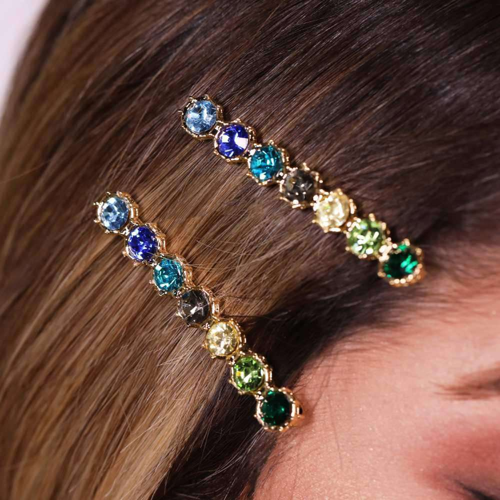 Crystal Hair Pin hair pin Esposa x Maria El Mendelek Green Crystal Hair Pin