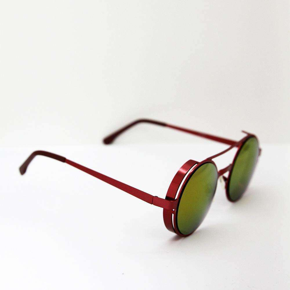 Red Metallic Sunglasses