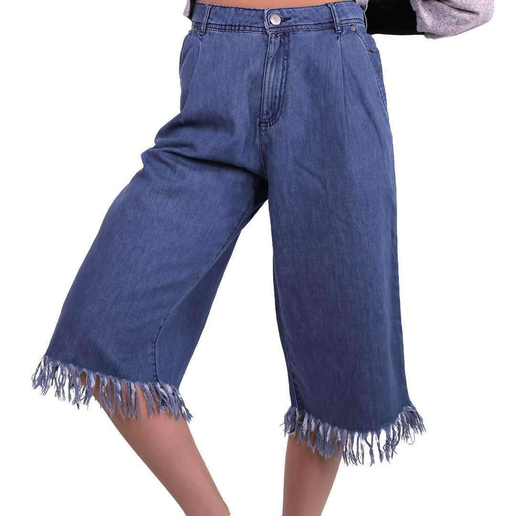 Wide jeans with fringed detail Jeans Tamara Farra