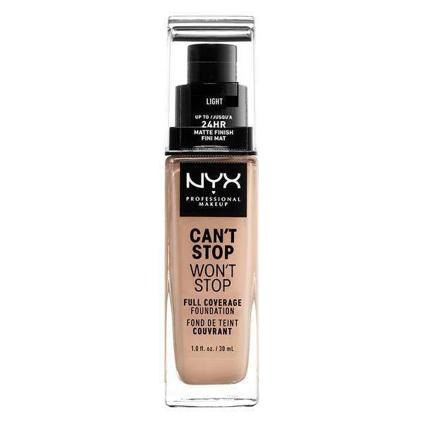 Can't Stop Won't Stop Full Coverage Foundation Foundation NYX Professional Makeup // Light
