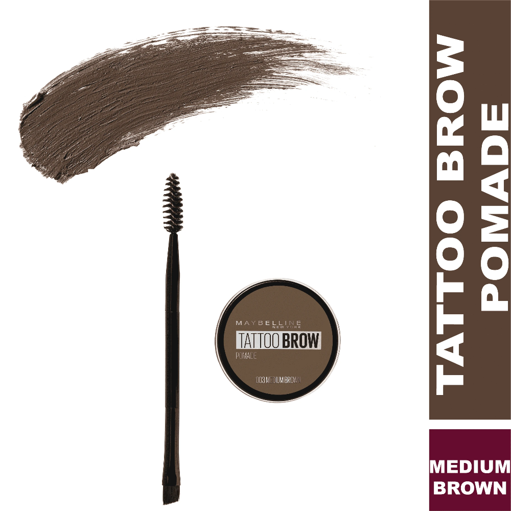 Tattoo Brow Pomade Eyebrows Gel Maybelline New York 03 Medium Brown