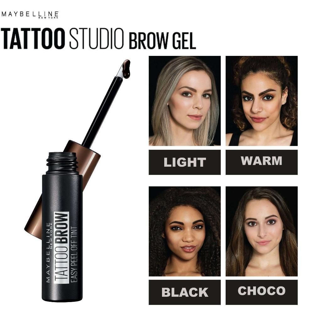 Tattoo Studio - Waterproof Eyebrow Gel Eyebrows Gel Maybelline New York