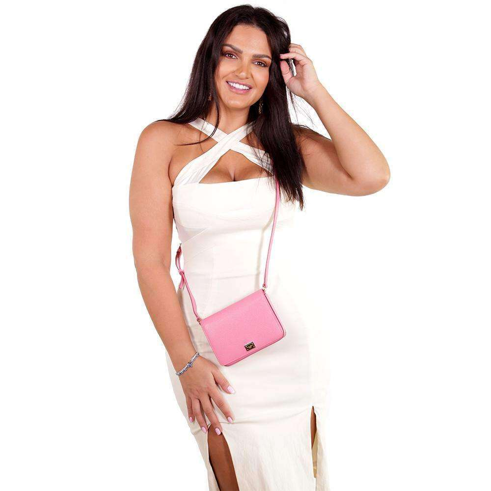 Pink 'Glam' Cross Body Bag Bags Marilyn Tutunjian