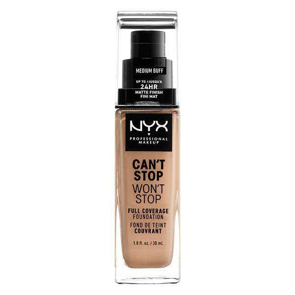 Can't Stop Won't Stop Full Coverage Foundation Foundation NYX Professional Makeup // Medium Buff