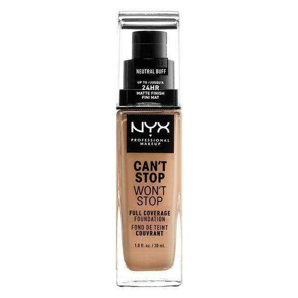 Can't Stop Won't Stop Full Coverage Foundation Foundation NYX Professional Makeup // Neutral Buff