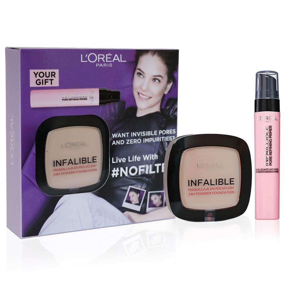 Infallible Compact Powder Foundation + free pore refining Primer