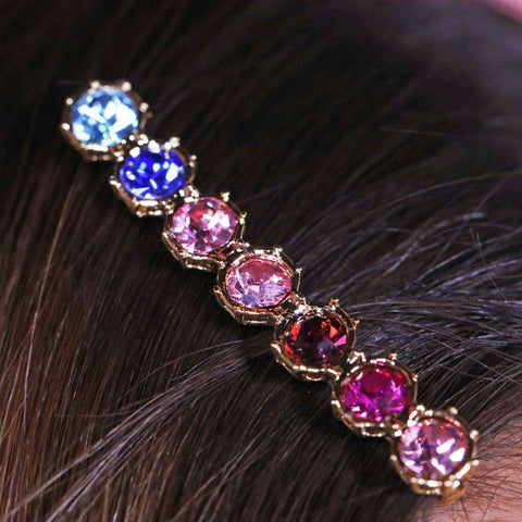 Pink Crystal Hair Pin