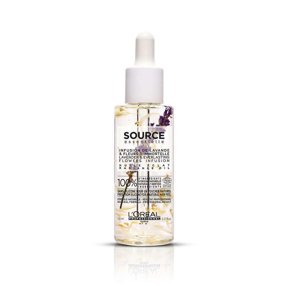 Source Essentielle Radiance Oil Lavender & Everlasting Flowers Infusion Oil L'Oréal Professionnel LC