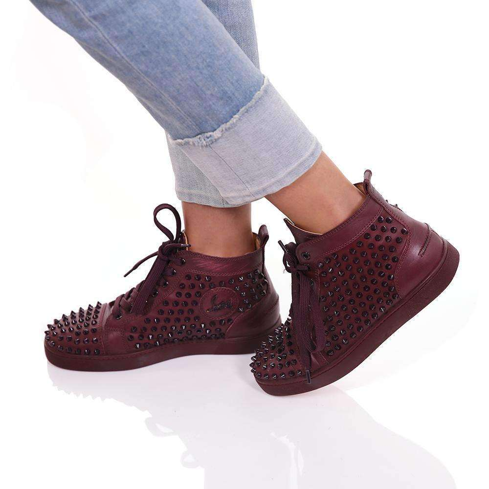 """Lou Spikes"" Flat Sneakers Shoes Natalie Sallaum"