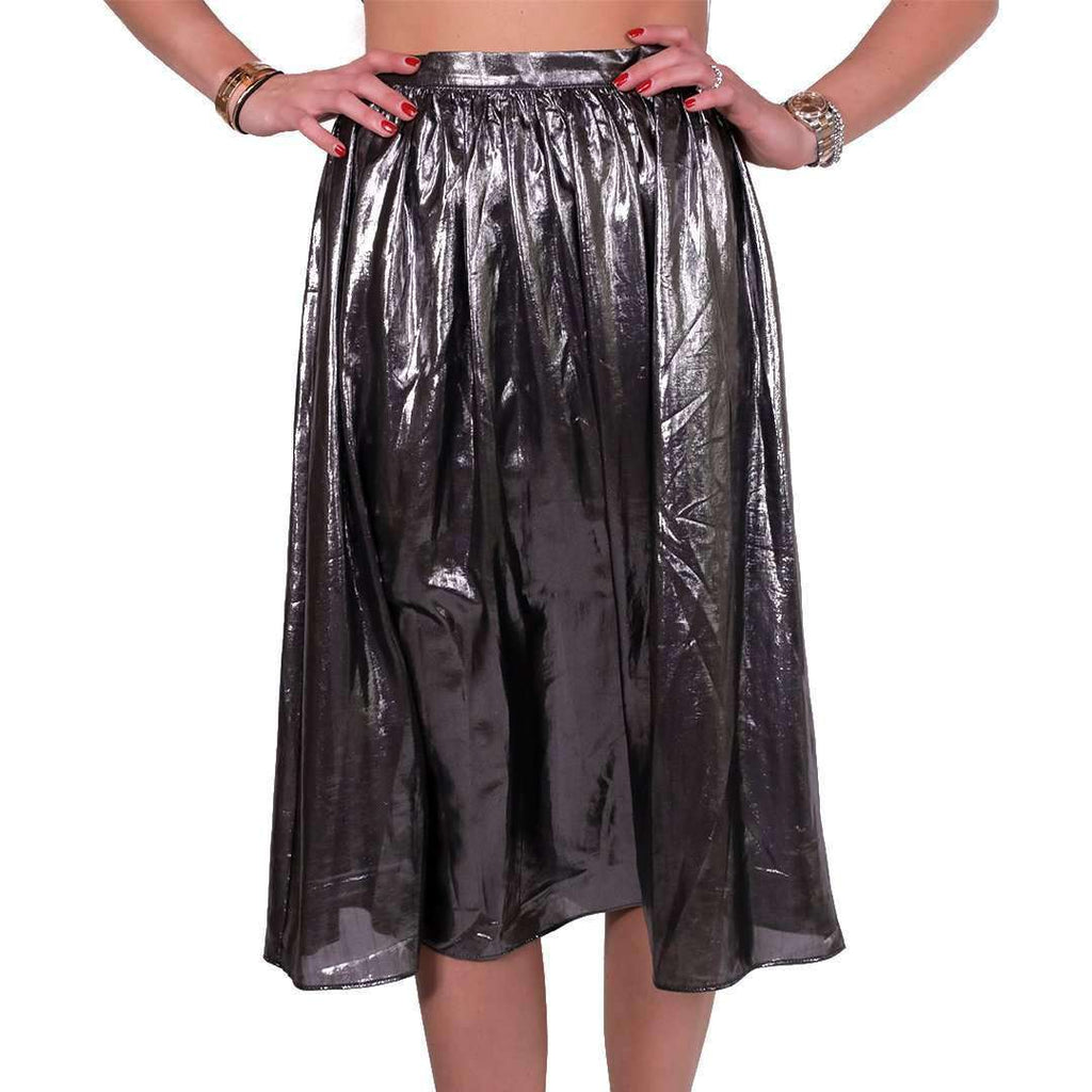 Metallic Grey Skirt Skirt Tamara Farra
