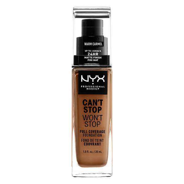 Can't Stop Won't Stop Full Coverage Foundation Foundation NYX Professional Makeup // Warm Caramel