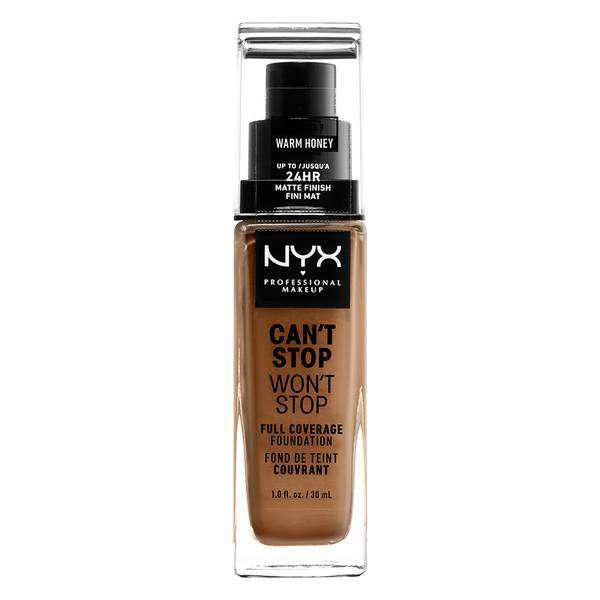 Can't Stop Won't Stop Full Coverage Foundation Foundation NYX Professional Makeup // Warm Honey