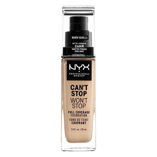 Can't Stop Won't Stop Full Coverage Foundation Foundation NYX Professional Makeup // Warm Vanilla