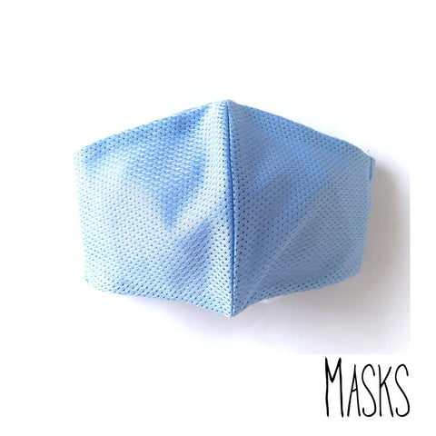 The Light Blue Patterned Mask